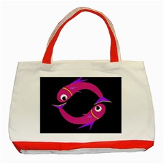Magenta fishes Classic Tote Bag (Red)