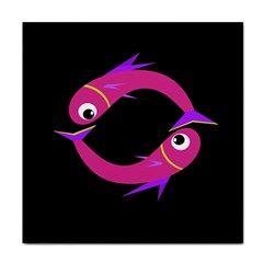Magenta fishes Face Towel