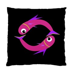Magenta fishes Standard Cushion Case (One Side)