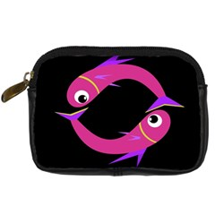 Magenta fishes Digital Camera Cases
