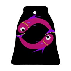 Magenta fishes Bell Ornament (2 Sides)