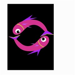Magenta fishes Large Garden Flag (Two Sides)