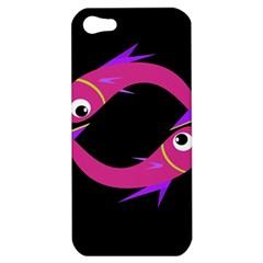 Magenta fishes Apple iPhone 5 Hardshell Case