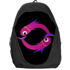 Magenta fishes Backpack Bag