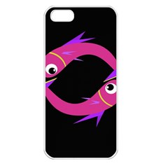 Magenta fishes Apple iPhone 5 Seamless Case (White)