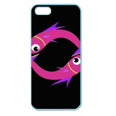 Magenta fishes Apple Seamless iPhone 5 Case (Color)