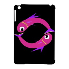 Magenta fishes Apple iPad Mini Hardshell Case (Compatible with Smart Cover)