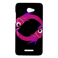 Magenta fishes HTC Butterfly X920E Hardshell Case