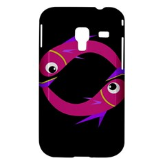 Magenta fishes Samsung Galaxy Ace Plus S7500 Hardshell Case