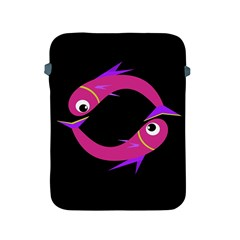 Magenta fishes Apple iPad 2/3/4 Protective Soft Cases