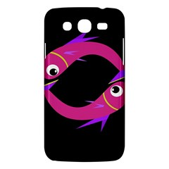 Magenta fishes Samsung Galaxy Mega 5.8 I9152 Hardshell Case