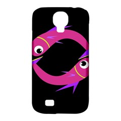 Magenta fishes Samsung Galaxy S4 Classic Hardshell Case (PC+Silicone)