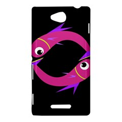 Magenta fishes Sony Xperia C (S39H)