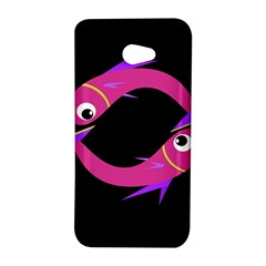 Magenta fishes HTC Butterfly S/HTC 9060 Hardshell Case