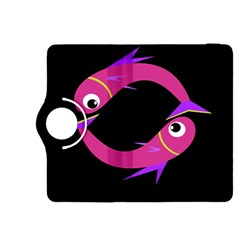 Magenta fishes Kindle Fire HDX 8.9  Flip 360 Case