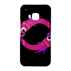 Magenta fishes HTC One M9 Hardshell Case