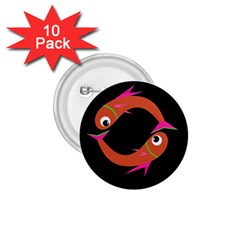 Orange fishes 1.75  Buttons (10 pack)