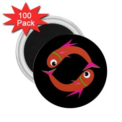 Orange fishes 2.25  Magnets (100 pack)
