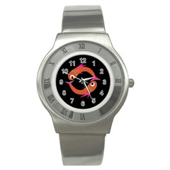 Orange fishes Stainless Steel Watch