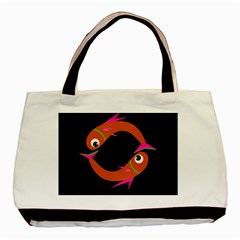 Orange fishes Basic Tote Bag (Two Sides)