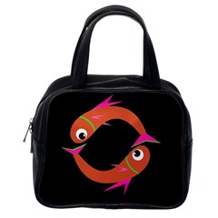 Orange fishes Classic Handbags (One Side)