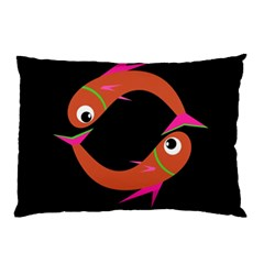 Orange fishes Pillow Case