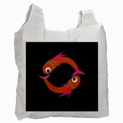 Orange fishes Recycle Bag (One Side)