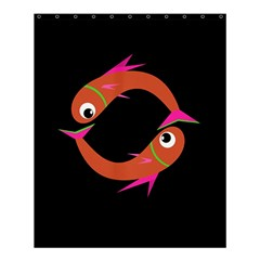 Orange fishes Shower Curtain 60  x 72  (Medium)