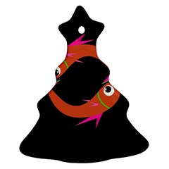 Orange fishes Christmas Tree Ornament (2 Sides)