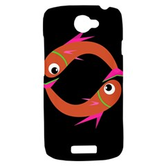 Orange fishes HTC One S Hardshell Case