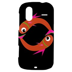 Orange fishes HTC Amaze 4G Hardshell Case