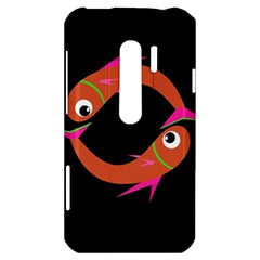 Orange fishes HTC Evo 3D Hardshell Case