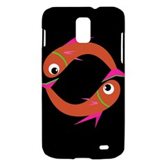 Orange fishes Samsung Galaxy S II Skyrocket Hardshell Case