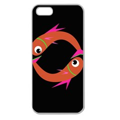 Orange fishes Apple Seamless iPhone 5 Case (Clear)