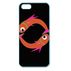 Orange fishes Apple Seamless iPhone 5 Case (Color)