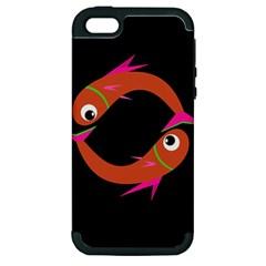 Orange fishes Apple iPhone 5 Hardshell Case (PC+Silicone)