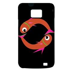 Orange fishes Samsung Galaxy S II i9100 Hardshell Case (PC+Silicone)