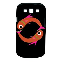 Orange fishes Samsung Galaxy S III Classic Hardshell Case (PC+Silicone)