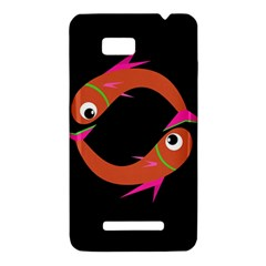 Orange fishes HTC One SU T528W Hardshell Case