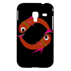 Orange fishes Samsung Galaxy Ace Plus S7500 Hardshell Case