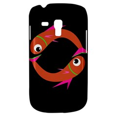 Orange fishes Samsung Galaxy S3 MINI I8190 Hardshell Case