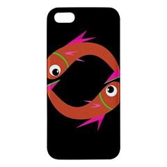 Orange fishes Apple iPhone 5 Premium Hardshell Case