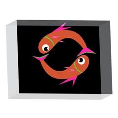Orange fishes 5 x 7  Acrylic Photo Blocks