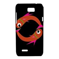 Orange fishes Motorola XT788