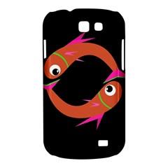 Orange fishes Samsung Galaxy Express I8730 Hardshell Case