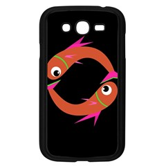 Orange fishes Samsung Galaxy Grand DUOS I9082 Case (Black)