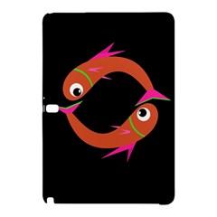 Orange fishes Samsung Galaxy Tab Pro 10.1 Hardshell Case