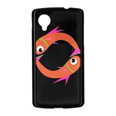Orange fishes Nexus 5 Case (Black)