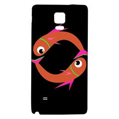 Orange fishes Galaxy Note 4 Back Case