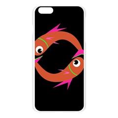 Orange fishes Apple Seamless iPhone 6 Plus/6S Plus Case (Transparent)
